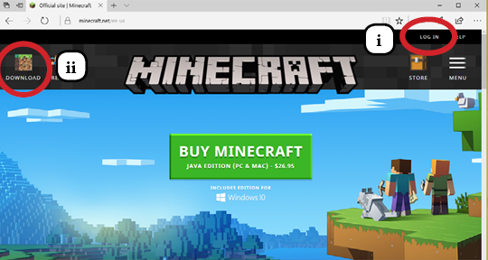 File:I-ii. Login and Download Minecraft.png